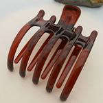 Flokët Clips Claw, Plastik, Shape Tjera, asnjë, asnjë, Ngjyra e kuqe kafe, 85x65mm, 50PC/Shumë,  Shumë