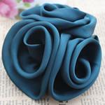 Mëndafsh, Lule, asnjë, asnjë, blu të errët, 90x90mm, 30PC/Shumë,  Shumë