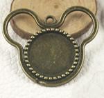 Zink Alloy varëse Setting, Alloy zink, Mickey Mouse, Ngjyra antike bronz i praruar, asnjë, asnjë, , nikel çojë \x26amp; kadmium falas, 38x34mm, : 2mm, : 18mm, 80PC/Qese,  Qese
