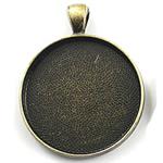Zink Alloy varëse Setting, Alloy zink, Monedhë, Ngjyra antike bronz i praruar, asnjë, asnjë, , nikel çojë \x26amp; kadmium falas, 38x38mm, : 2mm, : 35mm, 50PC/Qese,  Qese