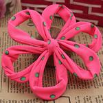 Leckë, Lule, asnjë, me model të rrumbullakët spot, rozë, 110x110mm, 30PC/Shumë,  Shumë