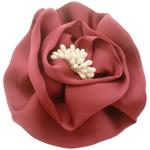 Saten Ribbon, with Plastike Pearl, asnjë, asnjë, tulla të kuqe, 100x100mm, 24PC/Shumë,  Shumë