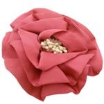 Saten Ribbon, with Plastike Pearl, asnjë, asnjë, i kuq, 100x100mm, 24PC/Shumë,  Shumë