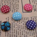 Leckë, with Plastik, Round Flat, asnjë, asnjë, ngjyra të përziera, 15x15mm, 150PC/Shumë,  Shumë
