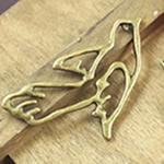 Zink Alloy Gjetjet bizhuteri, Alloy zink, Zog, Ngjyra antike bronz i praruar, asnjë, asnjë, , nikel çojë \x26amp; kadmium falas, 28x24mm, : 2mm, 200PC/Qese,  Qese