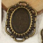 Zink Alloy Connector Setting, Alloy zink, Oval Flat, Ngjyra antike bronz i praruar, asnjë, , nikel çojë \x26amp; kadmium falas, 23x16.50mm, : 2mm, : 10x14mm, 200PC/Qese,  Qese