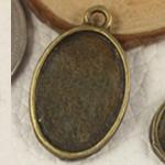 Zink Alloy varëse Setting, Alloy zink, Oval Flat, Ngjyra antike bronz i praruar, asnjë, asnjë, , nikel çojë \x26amp; kadmium falas, 25x15mm, : 2mm, : 13x18mm, 300PC/Qese,  Qese