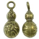 Pendants Zink Alloy, Alloy zink, Kungull uji, Ngjyra antike bronz i praruar, asnjë, asnjë, , nikel çojë \x26amp; kadmium falas, 6.5x16.5mm, : 2mm, 760PC/KG,  KG