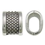 Beads bizhuteri Alloy zink, Drejtkëndësh, Ngjyra antike argjendi praruar, asnjë, asnjë, , nikel çojë \x26amp; kadmium falas, 11.50x14.50x10mm, : 10.5x7mm, 300PC/KG,  KG