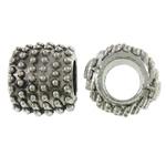 Beads European aliazh zink, Alloy zink, Daulle, Ngjyra antike argjendi praruar, pa karrem, asnjë, , nikel çojë \x26amp; kadmium falas, 11x10mm, : 5.5mm, 290PC/KG,  KG
