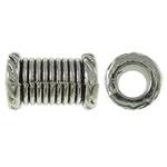 Beads Zink Alloy Tube, Alloy zink, Ngjyra antike argjendi praruar, asnjë, asnjë, , nikel çojë \x26amp; kadmium falas, 7.5x11.5mm, : 4mm, 760PC/KG,  KG