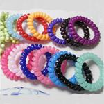 Elastike Hair, Plastik, Shape Tjera, elastik, asnjë, ngjyra të përziera, 5mm, 130PC/Shumë,  Shumë