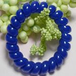 Elastike Hair, Plastik, Shape Tjera, elastik, asnjë, blu, 5mm, 130PC/Shumë,  Shumë