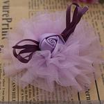 Saten Ribbon, with Silk pe, asnjë, asnjë, purpurtë drita, 80x80mm, 40PC/Shumë,  Shumë