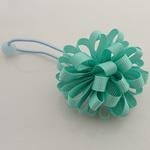 Bisht mbajtës, Saten Ribbon, with Gomë & Plastik, Lule, elastik, asnjë, aqua gjelbër, 100x40mm, 30PC/Shumë,  Shumë