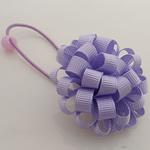 Bisht mbajtës, Saten Ribbon, with Gomë & Plastik, Lule, elastik, asnjë, vjollcë, 100x40mm, 30PC/Shumë,  Shumë