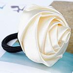 Bisht mbajtës, Saten Ribbon, with Gomë, elastik, asnjë, e bardhë, 30x30mm, 3mm, 50PC/Shumë,  Shumë
