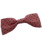 Leckë, Bowknot, asnjë, me model të rrumbullakët spot, rozë, 95x35mm, 80PC/Shumë,  Shumë