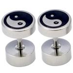 Stainless çelikut Ear Piercing bizhuteri, Stainless Steel, Barbell, asnjë, smalt, ngjyra origjinale, 20Çiftet/Shumë,  Shumë