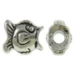 Beads Alloy zink Kafshëve, Peshk, Ngjyra antike argjendi praruar, asnjë, asnjë, , nikel çojë \x26amp; kadmium falas, 13x11x8.50mm, : 3.5mm, 290PC/KG,  KG