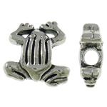 Beads Alloy zink Kafshëve, Bretkocë, Ngjyra antike argjendi praruar, asnjë, asnjë, , nikel çojë \x26amp; kadmium falas, 15x15x6mm, : 3.5mm, 290PC/KG,  KG