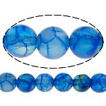 Natürliche Drachen Venen Achat Perlen, Drachenvenen Achat, rund, blau, 6mm, Bohrung:ca. 1mm, Länge:ca. 15 ZollInch, 20SträngeStrang/Menge, 65PCs/Strang, verkauft von Menge