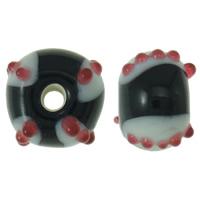Holprige Lampwork Perlen, Rondell, handgemacht, uneben, 12x8mm, Bohrung:ca. 2.5mm, 100PCs/Tasche, verkauft von Tasche