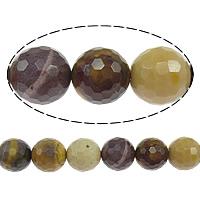 Dotter Stein Perlen, rund, facettierte, 14mm, Bohrung:ca. 1.2-1.4mm, Länge:ca. 15 ZollInch, 10SträngeStrang/Menge, ca. 27PCs/Strang, verkauft von Menge