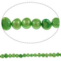 Barock kultivierten Süßwassersee Perlen, Natürliche kultivierte Süßwasserperlen, grün, 4-5mm, Bohrung:ca. 0.8mm, verkauft per ca. 15 ZollInch Strang