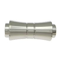 Edelstahl Magnetverschluss, originale Farbe, 24x10mm, Bohrung:ca. 5mm, Innendurchmesser:ca. 4mm, 20PCs/Menge, verkauft von Menge