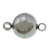 Edelstahl Magnetverschluss, Einzelstrang, originale Farbe, 19x12mm, Bohrung:ca. 3mm, 50PCs/Menge, verkauft von Menge
