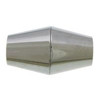 Edelstahl Magnetverschluss, 304 Edelstahl, Doppelkegel, originale Farbe, 16.50x10mm, Bohrung:ca. 5mm, 50PCs/Menge, verkauft von Menge