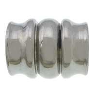 Edelstahl-Perlen mit großem Loch, 304 Edelstahl, großes Loch, originale Farbe, 15x12x10.50mm, Bohrung:ca. 6.5mm, 100PCs/Menge, verkauft von Menge