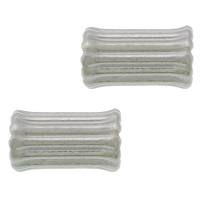 Edelstahlwell Beads, 304 Edelstahl, Knochen, gewellt, originale Farbe, 9x5x4.50mm, Bohrung:ca. 1.2mm, 100PCs/Menge, verkauft von Menge