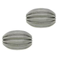 Edelstahlwell Beads, 304 Edelstahl, oval, gewellt, originale Farbe, 7x5mm, Bohrung:ca. 1mm, 100PCs/Menge, verkauft von Menge