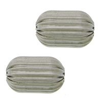 Edelstahlwell Beads, 304 Edelstahl, oval, gewellt, originale Farbe, 15x10mm, Bohrung:ca. 3mm, 100PCs/Menge, verkauft von Menge