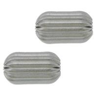 Edelstahlwell Beads, 304 Edelstahl, oval, gewellt, originale Farbe, 10x6mm, Bohrung:ca. 2mm, 100PCs/Menge, verkauft von Menge