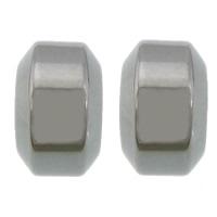 Edelstahl-Perlen mit großem Loch, 304 Edelstahl, Rondell, großes Loch, originale Farbe, 7x11mm, Bohrung:ca. 6.5mm, 200PCs/Menge, verkauft von Menge