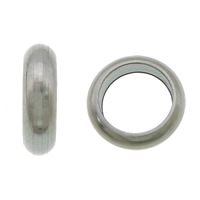 Edelstahl-Perlen mit großem Loch, 304 Edelstahl, Kreisring, großes Loch, originale Farbe, 2x7mm, Bohrung:ca. 5mm, 1000PCs/Menge, verkauft von Menge