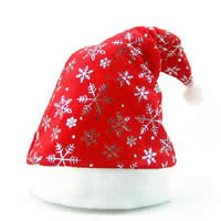 Velveteen Christmas Hat, printing, red, 200x400mm, Sold By PC