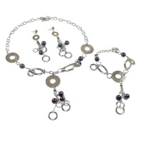 Brass Freshwater Pearl Jewelry Sets