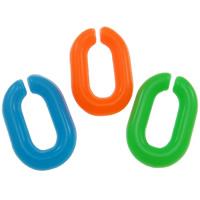 Acryl Verbindungsring, flachoval, gemischte Farben, 10x15mm, 2000PCs/Tasche, verkauft von Tasche