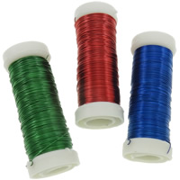 Iron Wire, electrophoresis, more colors for choice, nickel, lead & cadmium free, 0.37mm, Length:180 m, 6PCs/Bag, 30m/PC, Sold By Bag