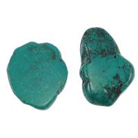 Synthetic Turquoise Cabochon, Nuggets, flat back, 29-31.5x42-46.5x4.5-7, 66PCs/Bag, Sold By Bag