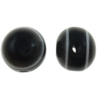 Harz Evil Eye Perlen, rund, Streifen, schwarz, 8mm, Bohrung:ca. 2mm, 1000PCs/Tasche, verkauft von Tasche