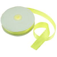 Polyester und Baumwolle Farbband, mit Kunststoffspule & Karton, mit einem Muster von Herzen & einzelseitig, grün, 25mm, Länge:250 HofHof, 5PCs/Menge, 50WerftenHof/PC, verkauft von Menge