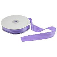Polyester und Baumwolle Farbband, mit Kunststoffspule & Karton, mit einem Muster von Herzen & einzelseitig, violett, 25mm, Länge:250 HofHof, 5PCs/Menge, 50WerftenHof/PC, verkauft von Menge