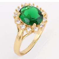 Gets® Finger Ring, Messing, 18 K vergoldet, mit kubischem Zirkonia, frei von Nickel, Blei & Kadmium, 10mm, Größe:8, verkauft von PC