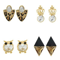 Glass Zinc Alloy Earring