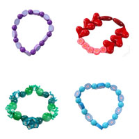 Glass Beads Polymer Clay Bracelets